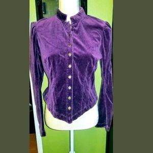 Betsey Johnson VINTAGE BETSEYVILLE  velvet jacket